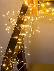 Недорогие -2 м 100 светодиодов медной проволоки светодиодные струнные огни фейерверк фея свет гирлянды для рождественского окна свадьба теплый белый декор с батарейным питанием (приходят без батареи)
