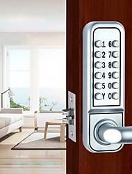 cheap -Mechanical Code Lock Wooden Door Lock Office Door Lock Wooden Door Lock Rental House Lock Outdoor Rain And Sun Protection