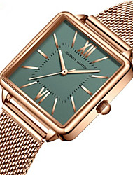 cheap -Women's Steel Band Watches Casual Fashion Silver Gold Rose Gold Stainless Steel Japanese Quartz Rose Gold Golden+Black White+Golden New Design Casual Watch 30 m 1 pc Analog One Year Battery Life