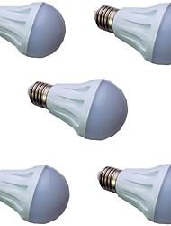 ieftine -5pcs 5 W Bulb LED Glob 300 lm E14 E26 / E27 10 LED-uri de margele SMD 5730 Alb Cald Alb 220-240 V