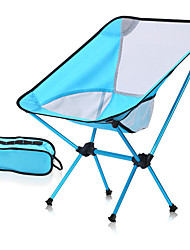 cheap -Camping Chair Portable Foldable Washable Comfortable Aluminum Alloy for 1 person Fishing Beach Camping / Hiking / Caving Traveling Autumn / Fall Summer Purple Red Grey Blue