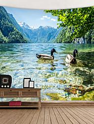 Недорогие -вид на озеро цифровой печатный гобелен декор стены искусства скатерти покрывало одеяло для пикника пляж бросить гобелены красочный спальня зал общежитие гостиная висит