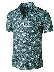 preiswerte -Herrn Grafik Palme Druck Hemd Tropisch Alltag Grün