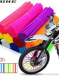 Недорогие -72 шт. 24 см колесо мотоцикла спицами протектор обертывания обшивки кожи крышки трубы для мотокросса велосипед велосипед крутые аксессуары 11 цветов