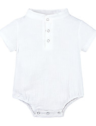 cheap -Baby Girls' Active Basic Print Short Sleeves Bodysuit White
