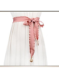 cheap -50% Acrylic / 50% Cotton Wedding / Party / Evening Sash With Belt Women's Sashes