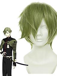cheap -SAO Swords Art Online Cosplay Wigs Men's Asymmetrical 13 inch Heat Resistant Fiber kinky Straight Green Adults' Anime Wig
