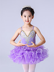 cheap -Ballet Dress Ruffles Appliques Girls' Training Performance Tulle Polyester