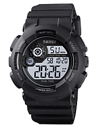 cheap -SKMEI Men's Sport Watch Digital Modern Style Stylish Outdoor Calendar / date / day Silicone Black / Blue / Green Digital - Black Blue Green One Year Battery Life / Chronograph / Dual Time Zones