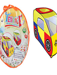 cheap -Play Tent & Tunnel Playhouse Cartoon Car Polyester Pop Up Indoor/Outdoor Playhouse for Boys and Girls