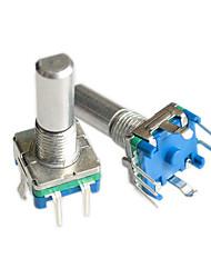 Недорогие -ec11 20 точек 20 мм 5 контактов поворотный энкодер / кодовый переключатель / аудио цифровой потенциометр 2шт