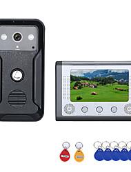 Недорогие -7-дюймовый цветной видео домофон дверной телефон RFID системы с HD дверной звонок 1000tvl камеры