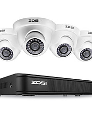 cheap -ZOSI H.264 CCTV system 1080P Full HD 4CH AHD CVI CVBS TVI DVR 4pcs 2.0MP 2000TVL Waterproof IP66 Nightvision Dome Security Camera 24pcs IR LED Outdoor Home Surveillance System