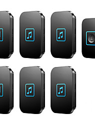 cheap -CACAZI Welcome Wireless Doorbell Waterproof 1 Transmitter 6 Receivers Smart Cordless Bell Volume 0-110dB 60 Chimes US EU UK AU Plug