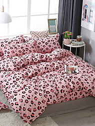 cheap -Lovely Maiden Wind Leopard print pattern bedding four-piece quilt cover bed sheet pillowcase dormitory single double