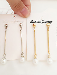 cheap -Women's Earrings Holiday Wedding Birthday Romantic Earrings Jewelry Yellow / Gold / White For Date Street Festival 1 Pair