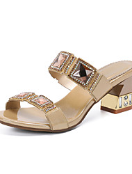 cheap -Women's Sandals 2020 Summer Pumps Open Toe Casual Sweet Daily Party & Evening Rhinestone / Crystal / Sparkling Glitter Floral PU Black / Purple / Red