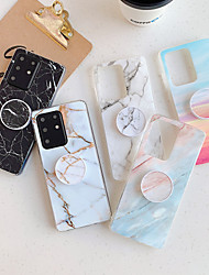 cheap -Case for Samsung S20 S20plus note10 note10pro splicing marble plating process TPU material smooth beautiful mobile phone case