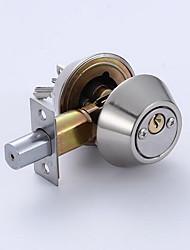 cheap -102 Double Head Lock Stainless Steel Color Lock Single Double Head Door Lock Big Head Lock Channel Lock Fixed Lock Indoor Door Lock