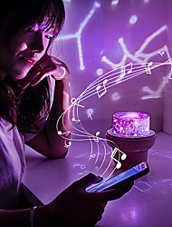cheap -Baby & Kids' Night Lights Projector Lights Moon Star Starry Night Light LED Lighting Music Box Bluetooth Exquisite 36 V USB Adults Kids for Birthday Gifts and Party Favors  Home