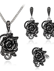 cheap -Women's Jewelry Set Classic Flower Stylish Gold Plated Earrings Jewelry Silver For Anniversary Party Evening Festival 1 set