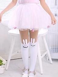 cheap -Kids Girls' Black White Patchwork Patchwork Leggings White