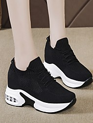cheap -Women's Trainers Athletic Shoes Wedge Heel Round Toe Daily Mesh Summer White Black Red