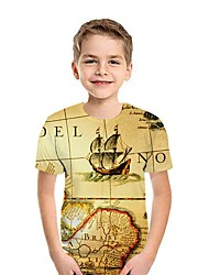 cheap -Kids Boys' Street chic 3D Short Sleeve Tee Wine