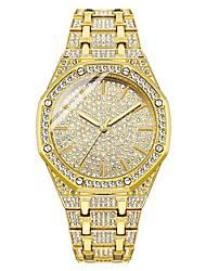 cheap -Men's Steel Band Watches Analog Quartz Modern Style Stylish Elegant Cool Imitation Diamond Large Dial / One Year / Stainless Steel