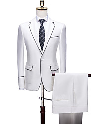 cheap -Tuxedos Tailored Fit Notch Single Breasted One-button Polyester Solid Color / British / Fashion