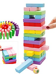 cheap -48 pcs Board Game Educational Toy Stacking Tumbling Tower Wooden Professional Balance Kid's Adults' Boys' Girls' Toys Gifts