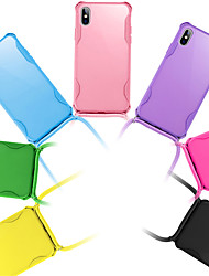 cheap -For iphone SE 2020 / 11 / 11Pro / 11 Pro Max Case Cover Soft With Lanyard Necklace Neck Strap Rope Phone Cases For iphone X / XS / XR / 8Plus / 8 / 7Plus / 7