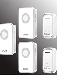 cheap -Cacazi V018F Waterproof Home Wireless Doorbell 300M Remote LED Light 2 Button 3 Receiver Cordless Door Bell Chimes