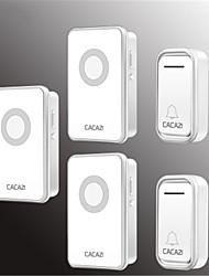 Недорогие -cacazi v018f водонепроницаемый домашний беспроводной дверной звонок 300 м дистанционный светодиодный свет 2 кнопки 3 приемник беспроводной дверной звонок колокольчиков