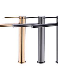 cheap -Lengthen 15cm Long Outlet Art Basin Faucet Gun Gray Matt Black Golden Bathroom Counter Basin Countertop Sink Faucets Mix Tap MS11-L