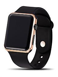 رخيصةأون -رجالي ساعة رقمية رقمي ستايل سيليكون أسود LCD طرد كبير رقمي كلاسيكي كاجوال - ذهبي+بني أسود أزرق سنة واحدة عمر البطارية