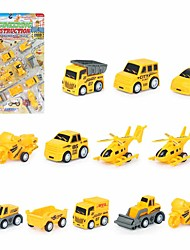 cheap -Toy Car Vehicle Playset Pull Back Car / Inertia Car Mini Truck Cartoon Toy Colorful Plastic Mini Car Vehicles Toys for Party Favor or Kids Birthday Gift 5cm/pcs 12 pcs