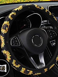 cheap -38cm Car Steering Wheel Covers Protector Glove Plush Sunflower  Shoulder Sleeves