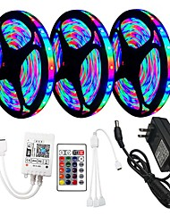 cheap -3x5M WiFi Controller Flexible LED Strip Lights RGB Tiktok Lights Remote Controls 810 LEDs SMD2835 8mm 1 x 12V 3A Adapter 1 set RGB Change Christmas New Year's Cuttable Party Decorative
