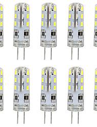 cheap -10pcs G4 LED Bulb Bi-Pin Base Lampe Spot 3014 SMD 24 LEDs 20W Halogen Bulb Equivalent 1.5W Pour Maison 360 Degree White Warm White