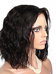 cheap -Synthetic Wig Curly Middle Part Wig Medium Length Black#1B Synthetic Hair 12 inch Women's Party curling Black
