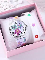 cheap -Women's Quartz Watches Quartz Floral Style Flower Chronograph Analog White / One Year / Silicone / One Year