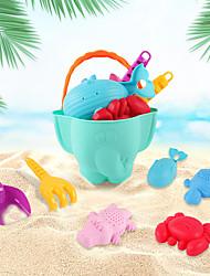 cheap -Beach Sand Toys Set Sand Molds Sand Shovel Tool Kits 7 pcs Plastics Portable with Mesh Bag For Kids Boys' Girls'