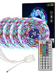 baratos -Zdm alta qualidade 20 m (4 * 5 m) à prova d 'água 2835 rgb smd luzes de tira flexíveis led ir 44 chave 1 a 4 controlador dc12v