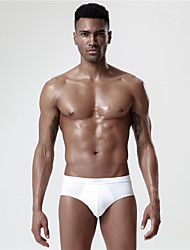 cheap -Men's Sports Underwear Sport Briefs Athletic 4pcs Boxer Briefs Briefs Bottoms Cotton Sport Running Walking Jogging Breathable Quick Dry Soft White Fashion / Stretchy