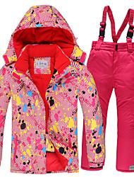 cheap -Girls' Ski Jacket Ski / Snow Pants Skiing Camping / Hiking Winter Sports Waterproof Windproof Warm Polyester Warm Top Warm Pants Clothing Suit Ski Wear / Kids