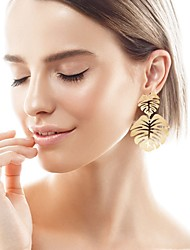 cheap -Women's Hoop Earrings Hollow Out Precious Earrings Jewelry Yellow / Gold / Green For Holiday