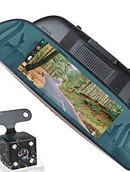 Недорогие -ziqiao 1080p hd / с задней камерой автомобильный видеорегистратор 170 градусов широкоугольный cmos 7-дюймовый ips-видеорегистратор с g-сенсором / мониторинг парковки / обнаружение движения нет