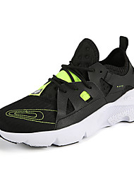 cheap -Women's Trainers / Athletic Shoes Summer Flat Heel Round Toe Sporty Athletic PU / Elastic Fabric Running Shoes Black / White / Orange / Black / Army Green