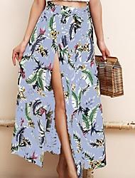 cheap -Women's A Line Skirts - Floral Light Blue S M L